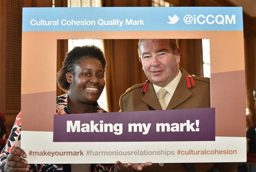 Cultural Cohesion Quality Mark (CCQM) for Leeds launch event images: jhardinefarrellanddavidpeasondeputylieutenantforwestyorkshire.jpg