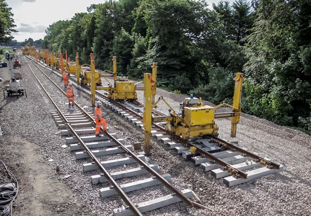 Sorry, does british railways track laying by night