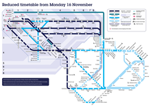 Reduced Timetable Map (from 16 November)