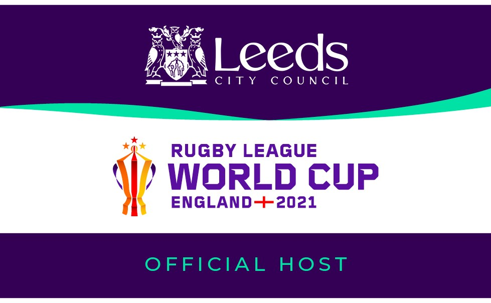Leeds Landscape Dark: Rugby League World Cup 2021 Public Ticket Ballot opens to celebrate one year countdown.