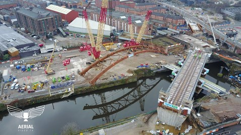 Ordsall Chord from above courtesy of Aerial Video TV