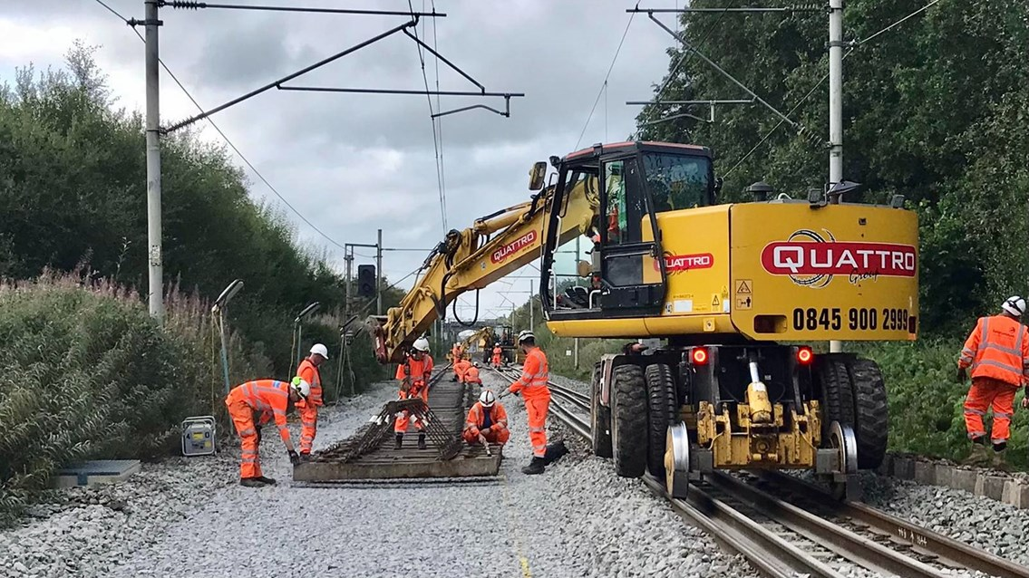 Railway open for business after major August bank holiday upgrades: Track renewals in Macclesfield over August bank holiday