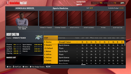 NBA 2K22 MyNBA MySTAFF Hire