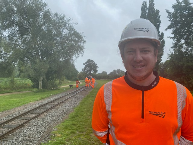Ben Darling, Network Rail's Distribution & Plant Section Manager for the East Midlands route