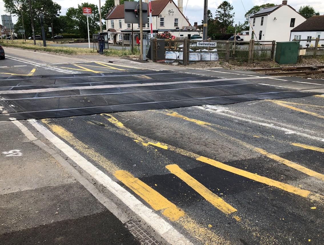 Network Rail begins £1million upgrade to improve Lincolnshire level crossing: Swineshead level crossing