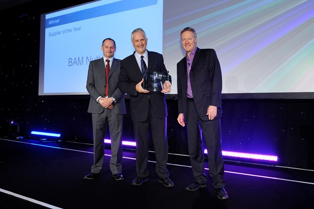 Iain Coucher presents BAM Nuttall with the supplier of the year award