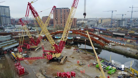 Ordsall Chord courtesy of Aerial Video TV