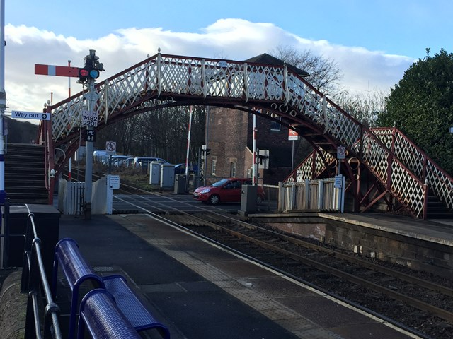 New lease of life for Grade II listed footbridge at Prudhoe railway station: New lease of life for Grade II listed footbridge at Prudhoe station