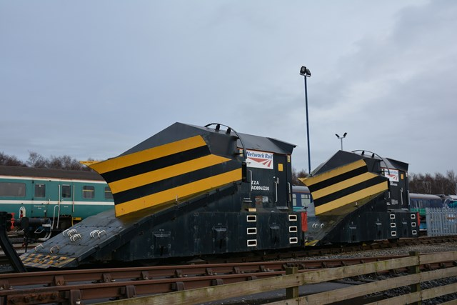 Snow ploughs at Carlisle depot