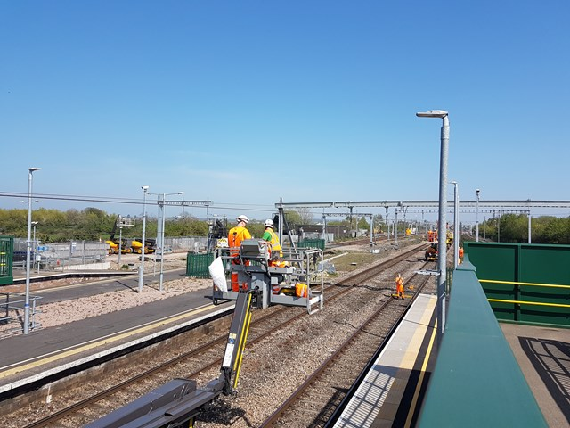 Residents and passengers thanked as railway upgrade work completed in South Wales: Registering wires