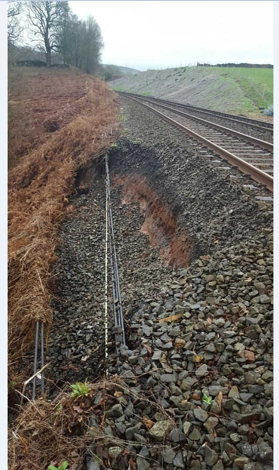 North West railway engineers poised to respond as Storm Eleanor approaches: Armathwaite storm damage