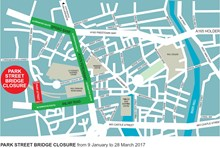 The diversion route for Park Street bridge in Hull