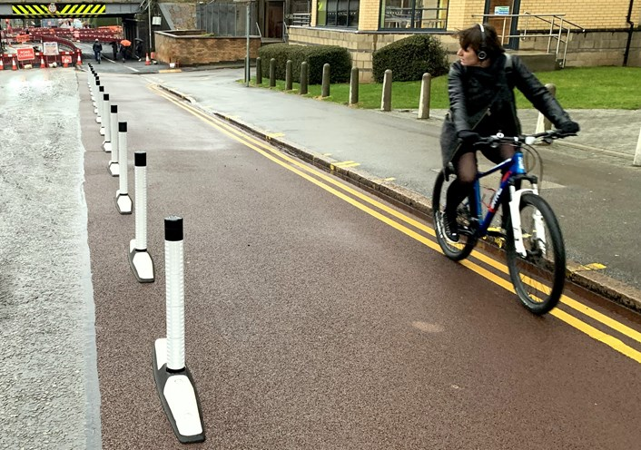 New pilot scheme to enhance cycling safety on A65 in Leeds: Orca Wands