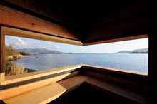Loch Leven Mill Hide - Inside View - credit Lorne Gill-NatureScot