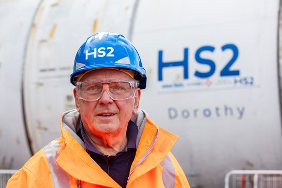 Legendary music producer and rail enthusiast Pete Waterman unveils name of HS2's first Midlands tunnelling machine: Pete Waterman unveils the name of the Long Itchington Wood Tunnel TBM