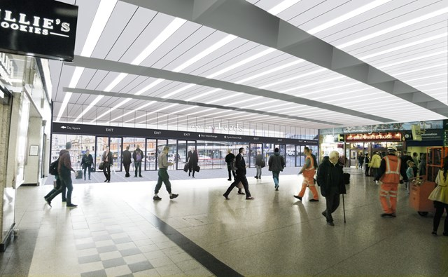 Shops to make way for a brighter, more spacious concourse at Leeds station: How Leeds station concourse will look once the retail units are removed