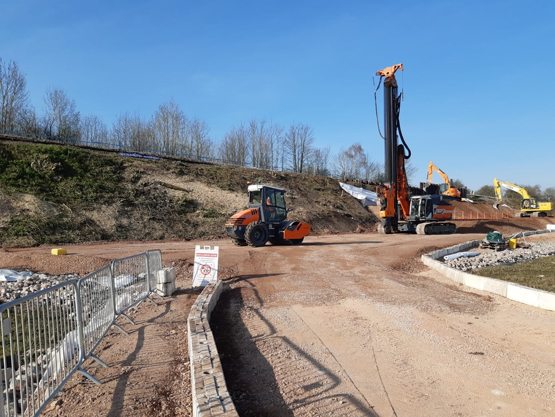 Successful emergency landslip repair on target to reopen vital line between Salisbury and Romsey three days ahead of schedule: Salisbury emergency works