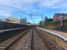 GNRP Wigan to Manchester weekend closures overhead lines empty tracks Adlington station