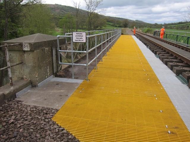 Network Rail engineers on railway bridge
