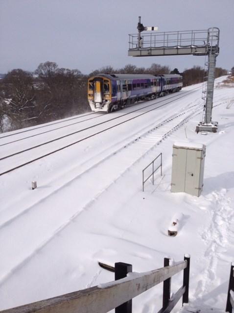 Train in the snow-2