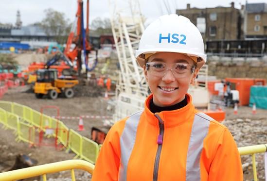 HS2 apprentice flies the flag for International Women's Day: Lisa-Marie 2