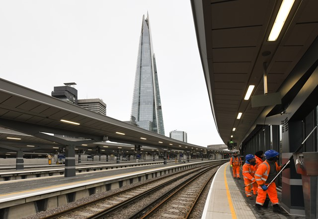 London bridge, Jan 1: London Bridge's new platforms, pictured just before it opened fully for the first time