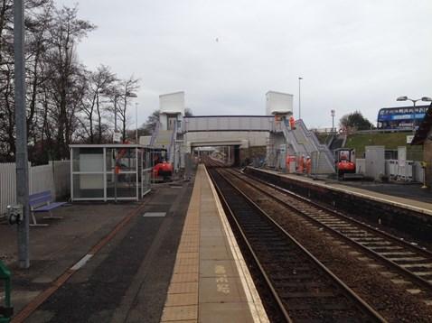 West Calder station footbridge