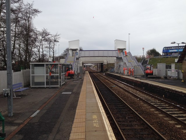 Network Rail opens new station footbridge at West Calder: West Calder station footbridge