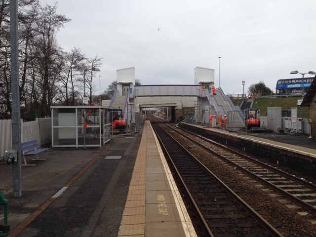 Network Rail opens new station footbridge at West Calder: West Calder station footbridge