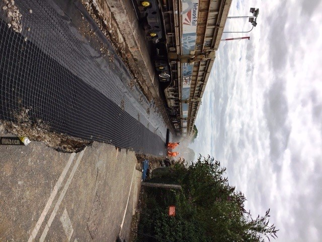 Westerfield down line - new Geo grid to improve track quality