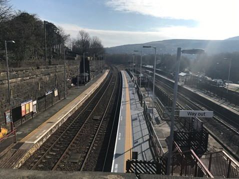 Improvements to platform two at Marsden station