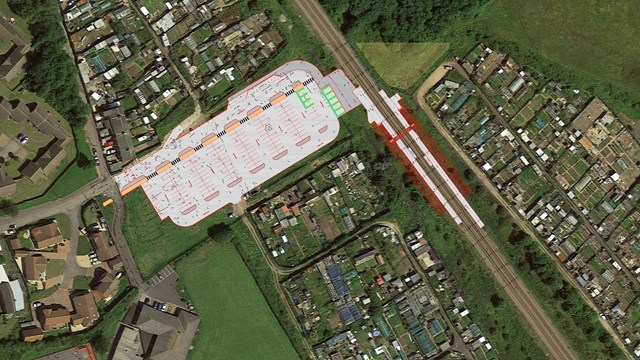 Horden station granted planning permission: Horden site plan (002)