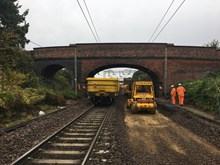 Removal of old track and digging out at kelvedon