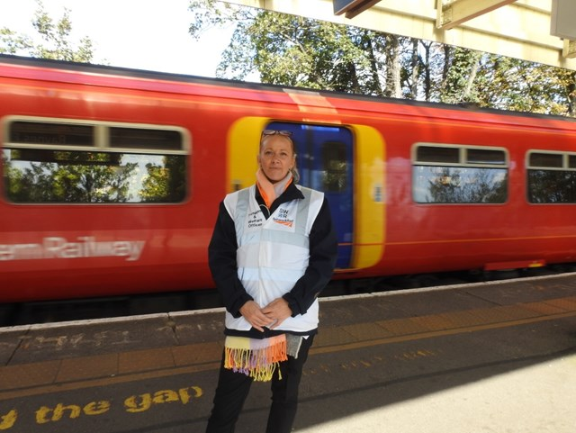 Recognition for South Western Railway and Network Rail team which helps vulnerable people while keeping rail journeys on time in Southern England: Lisa Blakeway Southwestern Trespass Officer