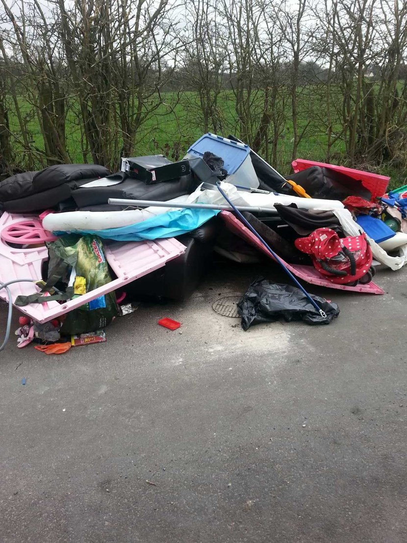 Man with a van picks up hefty fine for dumping waste: brennanflytipping.jpg