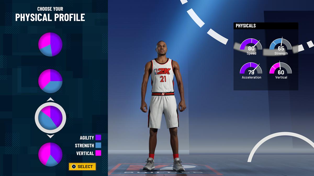 NBA 2K21 - CG Demo MyPLAYER Builder Physical Profile