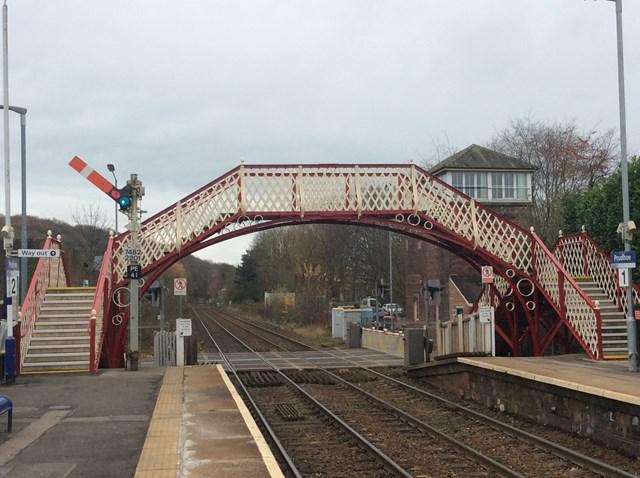 Grade II listed footbridge at Prudhoe station reopens after £500,000 refurbishment: Grade II listed footbridge at Prudhoe station reopens after £500,000 refurbishment-2