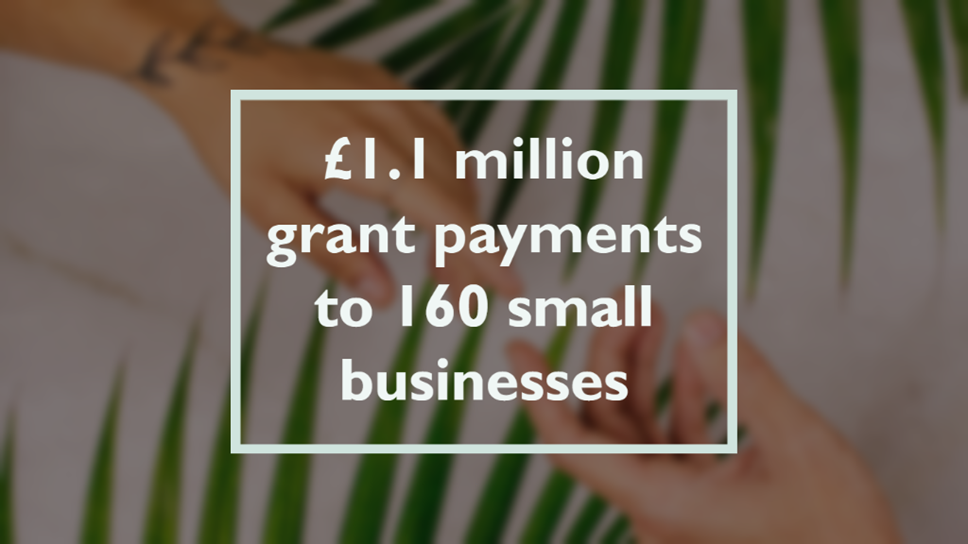 Council outlines £1.1 million grant payments to 160 small businesses: Grants 2