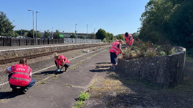 Barnstaple station volunteers at work