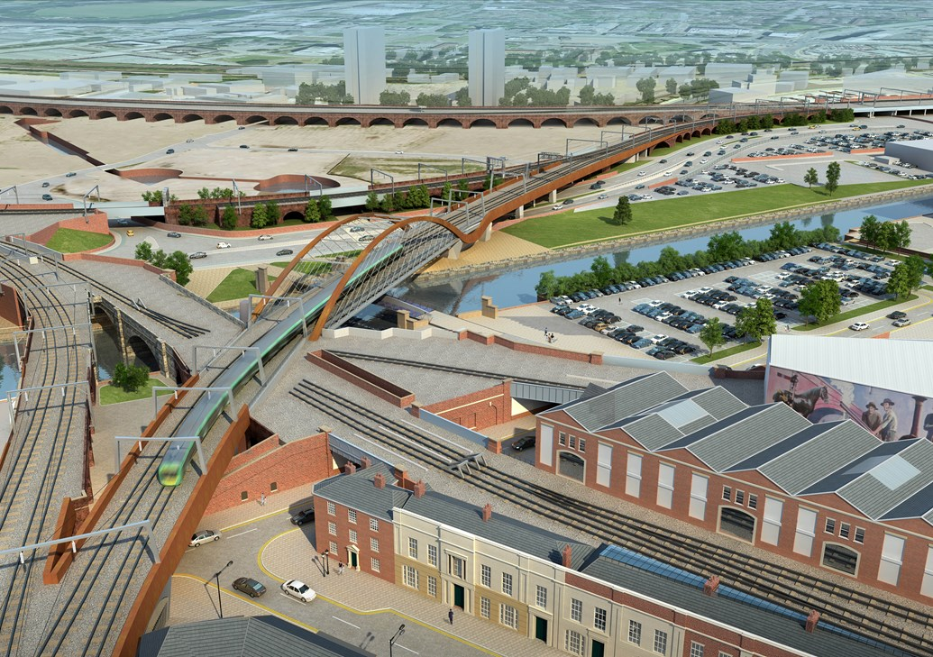 Manchester Victoria and Salford Central stations closed over Easter to enable vital rail improvement: Ordsall Chord - Manchester - 1