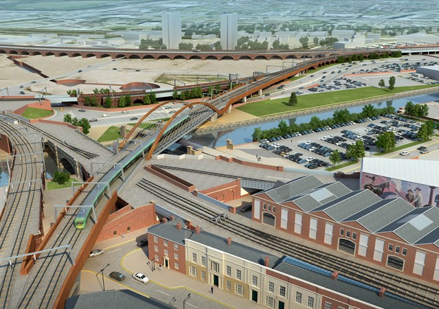 Passengers reminded to check before they travel as railway upgrade in the north continues: Ordsall Chord - Manchester - 1