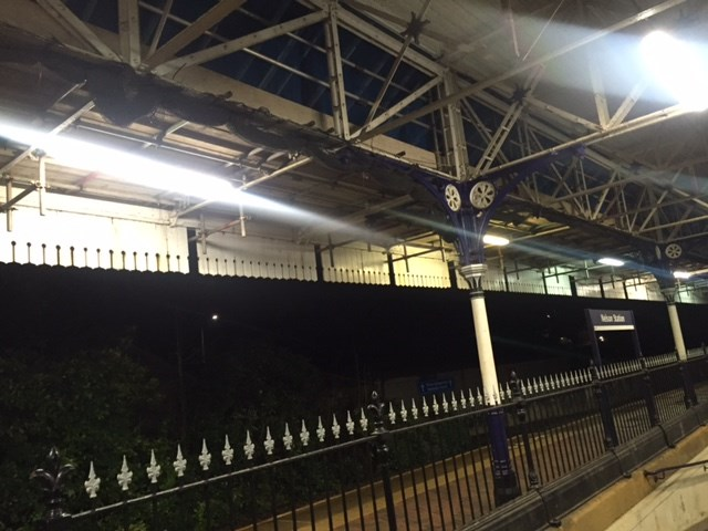 Glazing being replaced at Nelson station