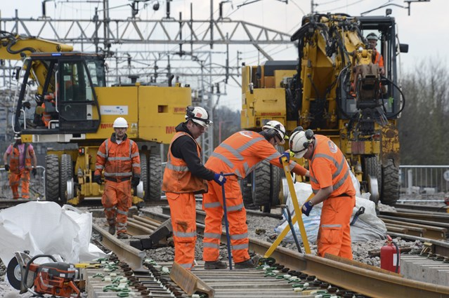 Christmas is coming… and so is Network Rail's £1m West Coast main line track upgrade: Work taking on the West Coast main line