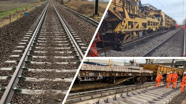 More than 30 miles of track renewals improve reliability of Anglia's rail network: Track renewals comp Anglia