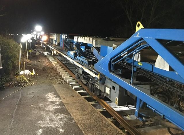New track construction machine at Castleton Moor