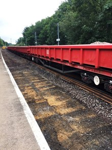 Westerfield down line track bed