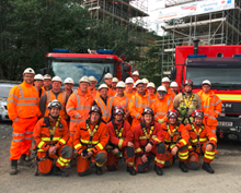 Network Rail and Mid and West Wales Fire and Rescue service team up to test emergency rescue plans from 100ft high South Wales viaduct: Network Rail and Mid and West Wales Fire and Rescue service team up to test emergency rescue plans