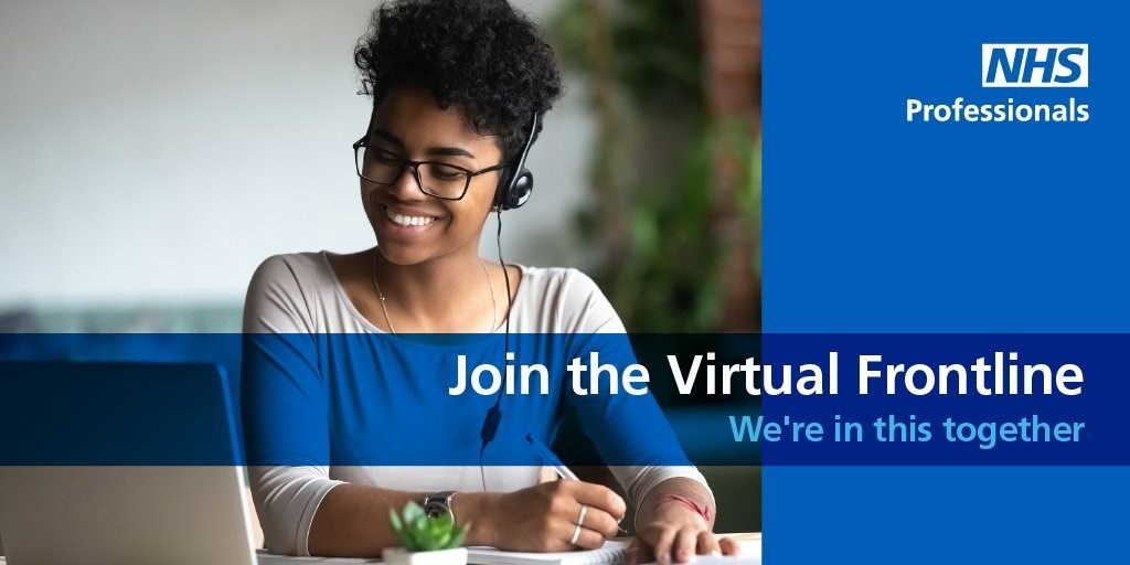 Join the virtual frontline JPG: NHS Professionals: Join the virtual frontline