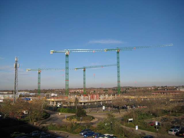November 2010: November 2010 - the ground and first floors are complete