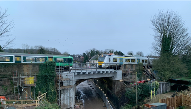 Multimillion-pound engineering works over the holiday period to benefit passengers in south London and Sussex: Selsdon Road bridge works